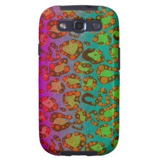 Estampado de animales fluorescente galaxy SIII funda