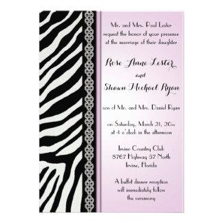 Estampado de animales - invitaciones del boda de invitacion personalizada