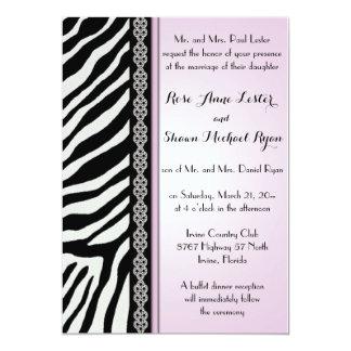 Estampado de animales - invitaciones del boda de invitación 12,7 x 17,8 cm