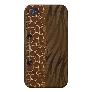 Estampado de animales iPhone 4 carcasas
