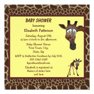 Estampado de animales lindo de las jirafas de la f comunicados personalizados