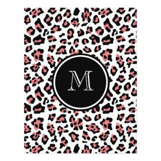 Estampado de animales negro del leopardo del meloc tarjetas informativas
