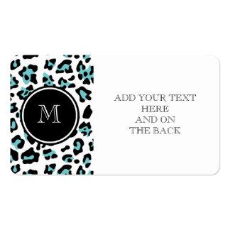 Estampado de animales negro del leopardo del tarjetas de visita