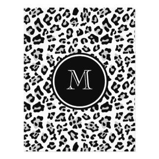 Estampado de animales negro gris del leopardo con tarjetas publicitarias
