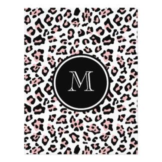 Estampado de animales negro rosado del leopardo co tarjeta publicitaria