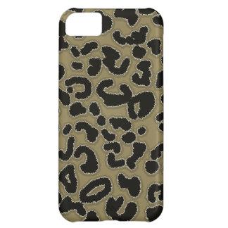 Estampado de animales oscuro del leopardo del more
