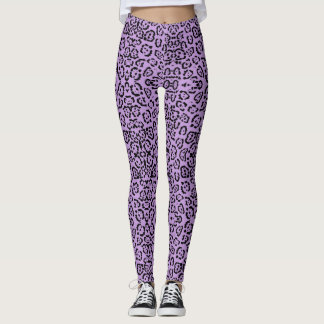 Estampado de animales púrpura del leopardo leggings