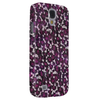 Estampado de animales púrpura pintado carcasa para galaxy s4