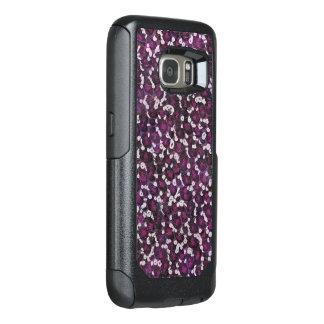 Estampado de animales púrpura pintado funda otterbox para samsung galaxy s7