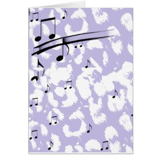 Estampado de animales púrpura tarjeta pequeña