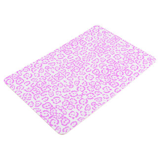 Estampado de animales rosado de neón del guepardo alfombra