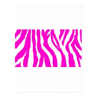 Estampado de animales rosado tarjetas postales