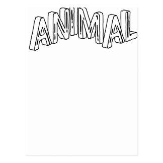 Estampado de animales salvaje postal