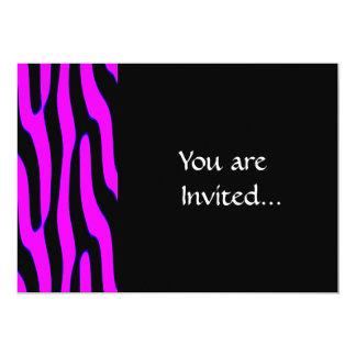 Estampado de animales salvaje rosado descarado invitación 12,7 x 17,8 cm