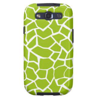 Estampado de animales verde de la jirafa galaxy s3 carcasa