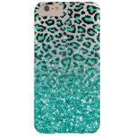 estampado de animales verde del leopardo de la funda de iPhone 6 plus barely there