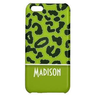 Estampado de animales verde del leopardo Personal