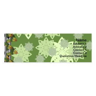 Estampado de flores colorido grande tarjetas de visita mini