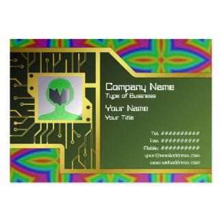 Estampado de flores colorido grande tarjeta de negocio