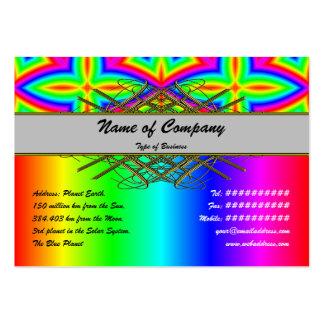 Estampado de flores colorido grande plantilla de tarjeta de negocio