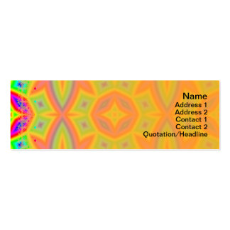 Estampado de flores colorido grande tarjetas de visita