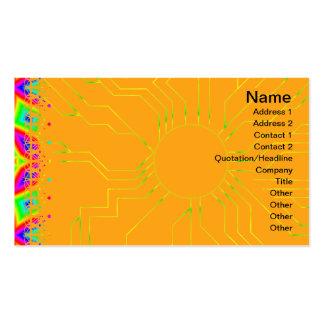 Estampado de flores colorido grande plantillas de tarjeta de negocio