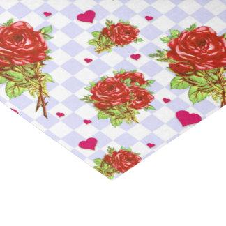 Estampado de flores de los rosas rojos en papel de seda