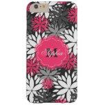 Estampado de flores de moda femenino hermoso del funda de iPhone 6 plus barely there