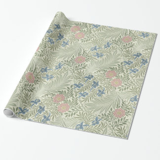 Estampado de flores de William Morris Larkspur Papel De Regalo