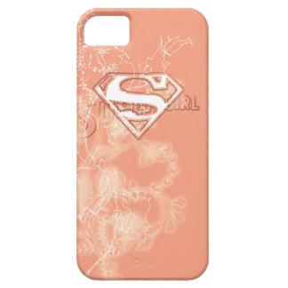 Estampado de flores del melocotón de Supergirl iPhone 5 Case-Mate Coberturas