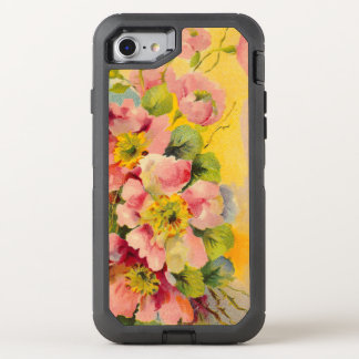 Estampado de flores del vintage funda OtterBox defender para iPhone 8/7
