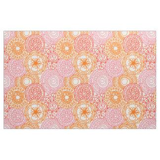 Estampado de flores feliz del verano de la tela