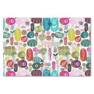 Estampado de flores infantil del dibujo animado papel de seda
