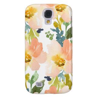 Estampado de flores lindo de la acuarela samsung galaxy s4 cover