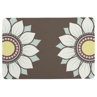 Estampado de flores moderno de las flores alfombra