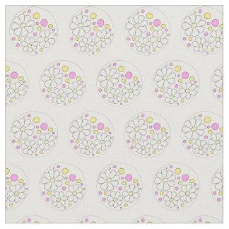 Estampado de flores moderno de las margaritas de tela