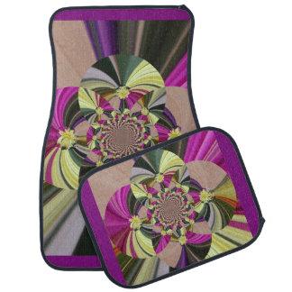 Estampado de flores psicodélico abstracto alfombrilla de coche