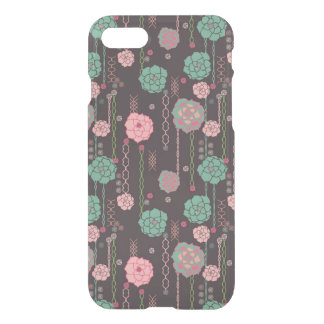 Estampado de flores retro 4 funda para iPhone 7