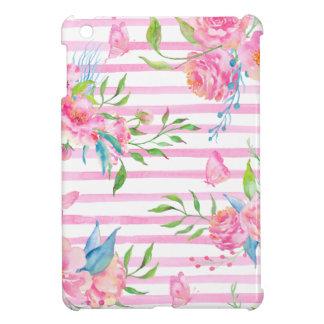 Estampado de flores rosado de la acuarela con las