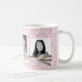 Estampado de flores rosado lindo y 3 fotos de Inst Taza De Café