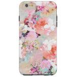 Estampado de flores rosado romántico de la moda de funda de iPhone 6 plus tough