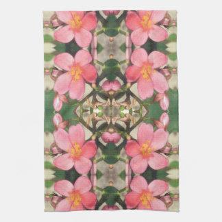 Estampado de flores rosado toallas