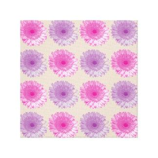 Estampado de flores rosado y púrpura del gerber lienzo