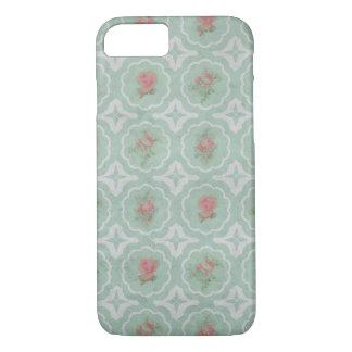 Estampado de flores rústico del vintage funda iPhone 7