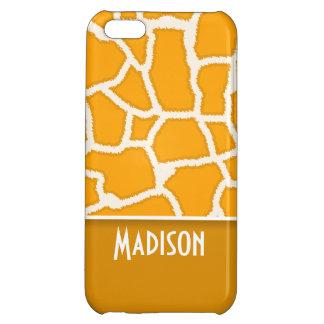 Estampado de girafa anaranjado ambarino; Personali