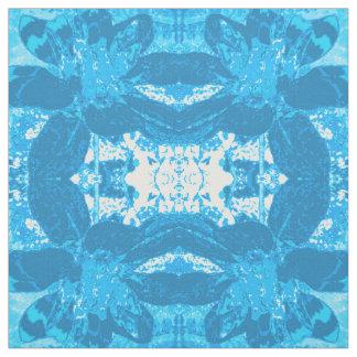 Estampado de plores azul abstracto de la dalia telas