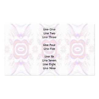 Estampado de plores en anaranjado y púrpura tarjetas de visita