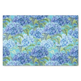 Estampado de plores floral azul del Hydrangea Papel De Seda