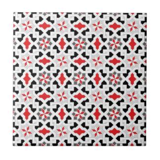 Estampado de plores oriental hermoso 1 azulejo cuadrado pequeño