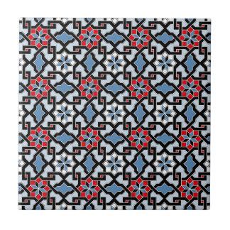Estampado de plores oriental hermoso 4 azulejo cuadrado pequeño